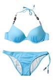 голубая женщина заплывания костюма Стоковая Фотография