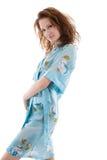 голубая женщина мантии шлихты Стоковая Фотография RF