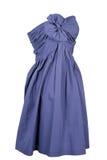 голубая женщина платья Стоковые Фото