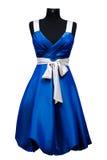 голубая женщина платья Стоковая Фотография RF