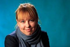 голубая женщина Стоковое фото RF