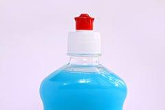 голубая жидкость бутылки Стоковое Изображение RF