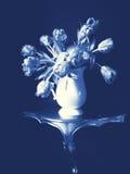 голубая жизнь delft все еще Стоковые Фотографии RF