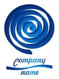 голубая закрутка логоса 3d Стоковые Фотографии RF