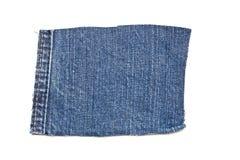 Голубая заплата джинсов хлопка джинсовой ткани Стоковое фото RF