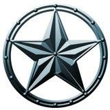 голубая звезда металла логоса Стоковое Изображение RF