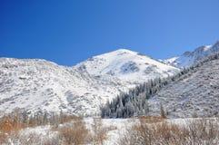 голубая зима неба гор Стоковое Изображение