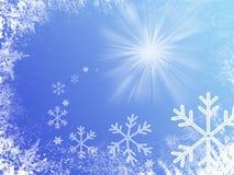 голубая зима illusration Стоковая Фотография RF