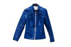голубая изолированная куртка Стоковое фото RF