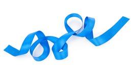голубая изолированная тесемка Стоковое Изображение RF