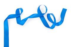 голубая изолированная тесемка Стоковая Фотография