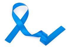 голубая изолированная тесемка Стоковое Изображение