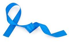 голубая изолированная тесемка Стоковые Фотографии RF