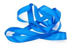 голубая изолированная тесемка Стоковые Изображения RF