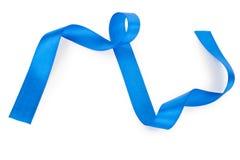 голубая изолированная тесемка Стоковое Фото
