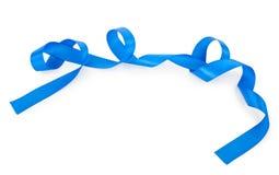 голубая изолированная тесемка Стоковая Фотография RF