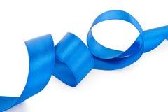 голубая изолированная тесемка Стоковое фото RF