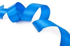 голубая изолированная тесемка Стоковые Фото