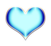 голубая иллюстрация сердца Стоковое Изображение RF
