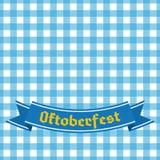 Голубая и белая checkered безшовная картина Фестиваль пива Германии Стоковая Фотография