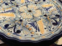 Голубая и желтая плита Стоковая Фотография RF