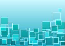 Голубая и зеленая геометрическая предпосылка с квадратами r бесплатная иллюстрация