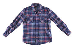 Голубая и красная изолированная рубашка Стоковое Изображение RF