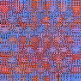 Голубая и красная неоновая квадратная имитация картины ткани Стоковая Фотография