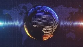 Голубая и оранжевая оживленная земля сделанная от цифровых данных бесплатная иллюстрация
