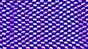 Голубая и розовая анимация механизма прерывного действия 3d придает квадратную форму абстрактной геометрической предпосылке движе иллюстрация вектора