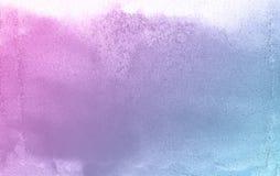 Голубая и розовая предпосылка бумаги текстуры акварели цветка природы, красивая творческая планета иллюстрация вектора