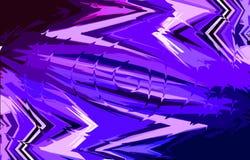 Голубая и фиолетовая предпосылка Спирально переплетенная середина иллюстрация штока