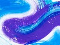 Голубая и фиолетовая творческая абстрактная рука покрасила предпосылку, щетку бесплатная иллюстрация