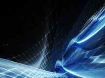 Голубая и черная абстрактная предпосылка Стоковая Фотография RF