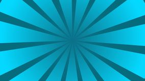Голубая и Cyan sunburst анимация картины круга и предпосылки иллюстрация вектора