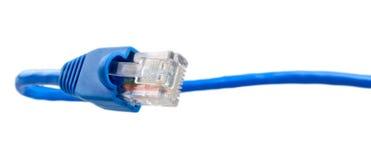 голубая кабельная сеть Стоковая Фотография