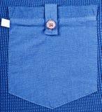 голубая карманная рубашка Стоковые Изображения RF