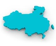 голубая карта фарфора Стоковое Фото