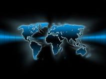 голубая карта Стоковое Фото
