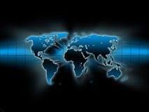 голубая карта Стоковая Фотография RF