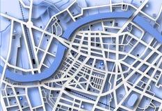голубая карта иллюстрация штока