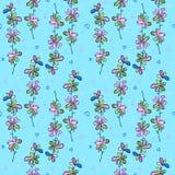 Голубая картина для ткани Стоковые Фотографии RF