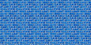 голубая картина кирпичной кладки безшовная стоковая фотография