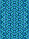 голубая картина орнамента Стоковая Фотография RF