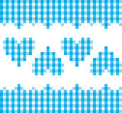 голубая картина сердец Стоковые Изображения RF