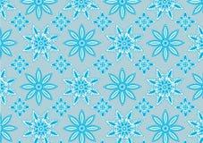Голубая картина снежинки Стоковая Фотография RF