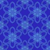 Голубая картина с цветками Безшовная картина для печатать на холсте или ткани Для печатать или wraping Стоковые Изображения