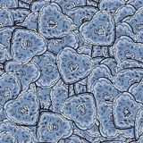 Голубая картина формы сердца donuts Милая иллюстрация вектора Стоковое Изображение RF