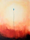 голубая картина цветка бесплатная иллюстрация