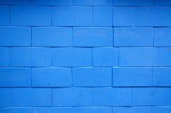голубая кирпичная стена Стоковые Фото